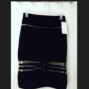 Tobi Black Mesh Skirt